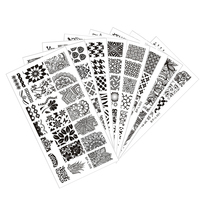 8pcs BORN PRETTY L001 L008 Nail Art Stamp Template Image Plates 12 5 X 6 5cm