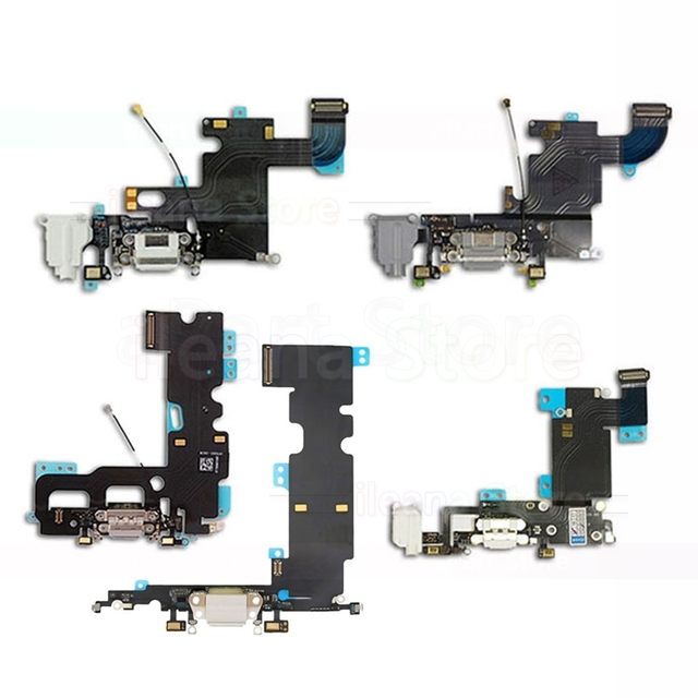 save off 566b3 a9701 US $1.69 10% OFF|OEM USB Port Charger Dock Connector Charging Flex Cable  For iPhone 6 6s 7 8 5 5C 5S SE With Mic Flex Free Shipping-in Mobile Phone  ...