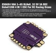 E50AX4 50A 3-6 S BLHeli_32 5 в 3A BEC PCB Dshot1200 4 в 1 ESC для RC моделей Multicopter гоночный рама беспилотника DIY Часть Аксессуары