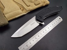 good Flipper tactical folding knife camping hunting survival rescue pocket knives 8cr13mov blade Nylon handle outdoor hand tools