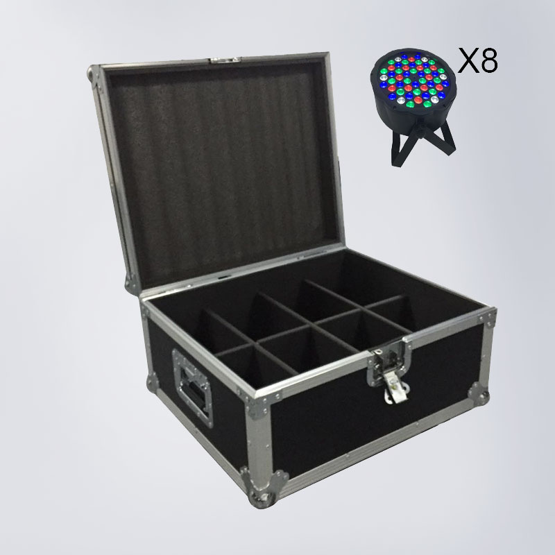 FlightCase With 6/8/10/12/16pcs LED Flat Par 54x3W RGBW Lighting Strobe DMX DJ Wash Disco Professional Stage LightsFlightCase With 6/8/10/12/16pcs LED Flat Par 54x3W RGBW Lighting Strobe DMX DJ Wash Disco Professional Stage Lights