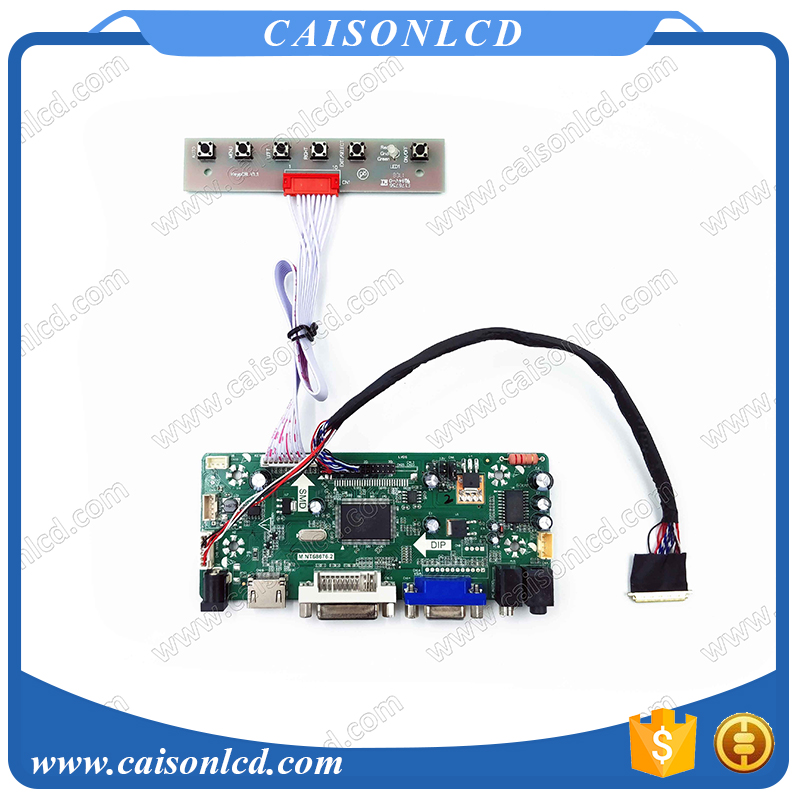Free Shipping LCD LVDS Controller board with HDMI DVI VGA for 16 1366X768 LCD TFT Panel