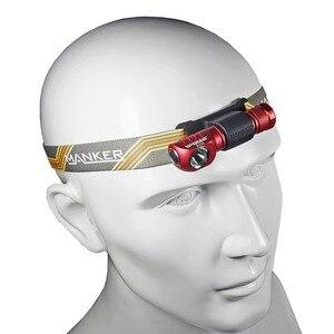 Image 3 - Manker E02H AAA Headlamp 220 lumen CREE XPG3 / CRI Nichia 219C LED Torchlight with Headband Pocket Mini Flashlight with Magnet
