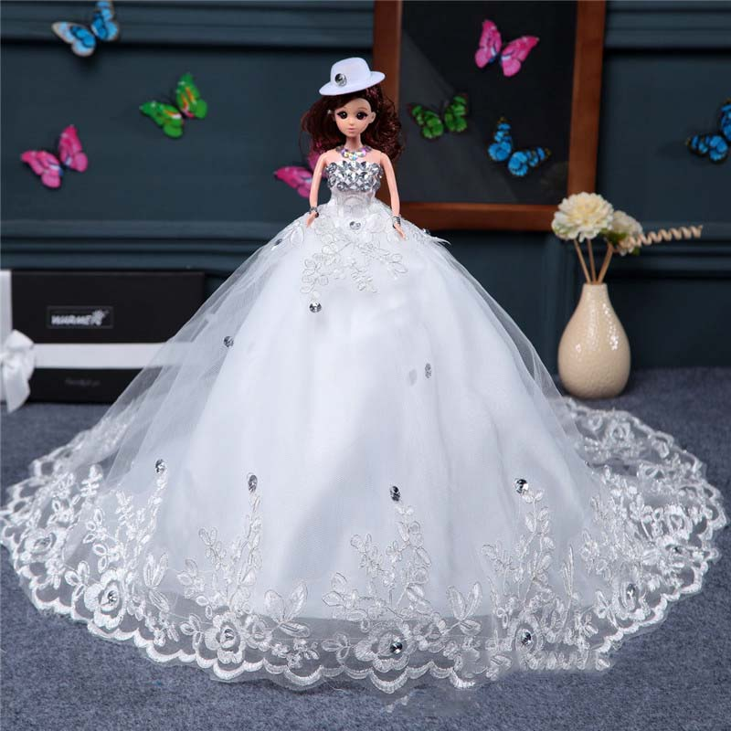 1 Piece Wholesale Factory Wedding Birthday Gifts Wedding Doll Trailing White Smile Room Ornaments Creative Girls Stuffed Toys