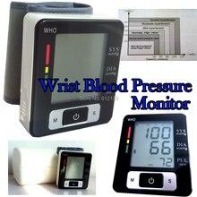 Автоматическая Цифровая Наручные Монитор Артериального Давления Heart Beat Meter 90 наборов данных Емкость
