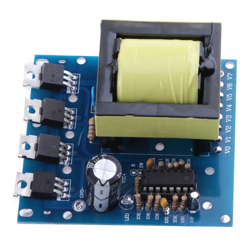 500W Booster Board Module DC/AC Inverter DC 12V-24V to AC 180V-220V-380V Booster Board Module High Frequency Square Wave bravo audio booster guitar effector blue transparent dc 12v