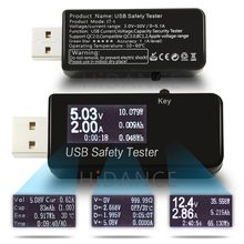 USB tester 3 30V DC Voltmeter ammeter current voltage meters capacity monitor qc2 0 quick charger