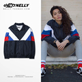 color mosaic mesh lining spring thin retro wind movement and trendsetter raglan sleeve short clip