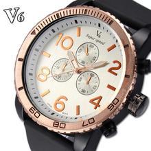 V6 2015 новинка спортивные часы роскошные часы свободного покроя часы военные кварцевые часы Relogio Masculino часы часы