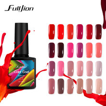 Fulljion Gel Nail Polish Hybrid Gel Lakker Soak-off UV LED Fargebelegg Nail Art Primer Fingernail Gel Lacquer Red Pink Series