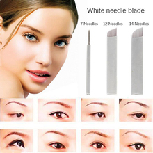 50Pcs Microblading Permanent Make Up Manual Eyebrow Tattoo Curved Blades Needles