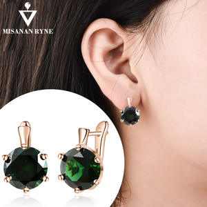 MISANANRYNE 2019 NEW Arrival Fashion Earrings For Women Green Blue Crystal Girls Drop Earrings Statement Wedding Jewelry