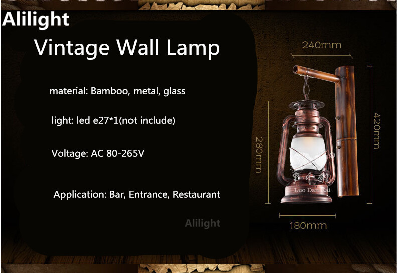 Led Indoor Wall Lamps Lights & Lighting Vintage Hand Crafted Iron Lantern Led E27 Wall Lamp For Bar Entrance Restaurant Aisle Wall Lights Sconce Indoor Lighting Fixture