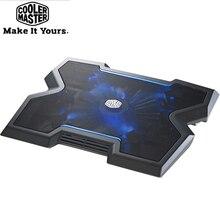 Cooler master R9 NBC NPX3 almofada de refrigeração, antiderrapante base 200mm led blu ray silencioso ventilador ajustável para notebook 9  17
