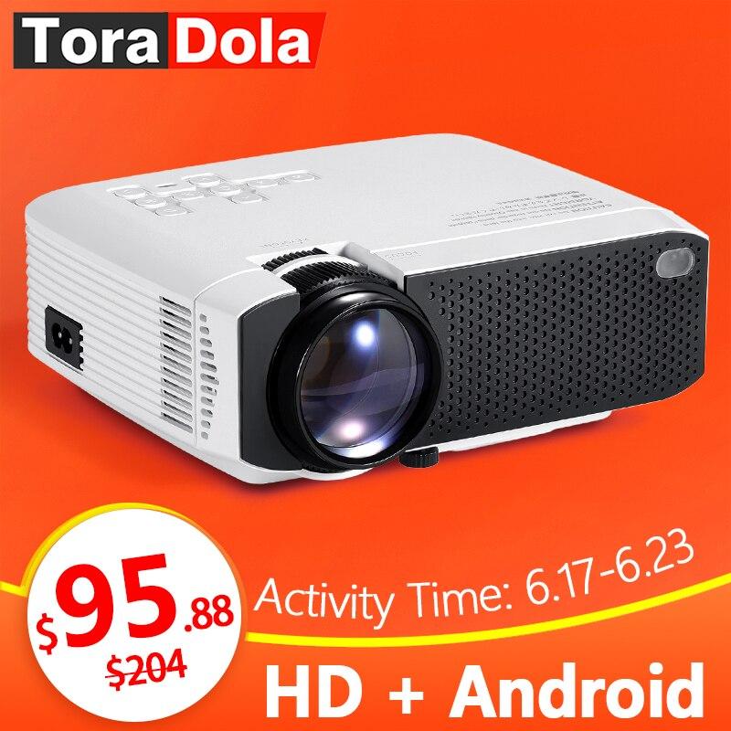 TORA dole projecteur LED Android 7.1OS. Meilleur MINI projecteur HD. 1280x720 résolution Home Cinema, 1080 P Beamer WIFI TD01