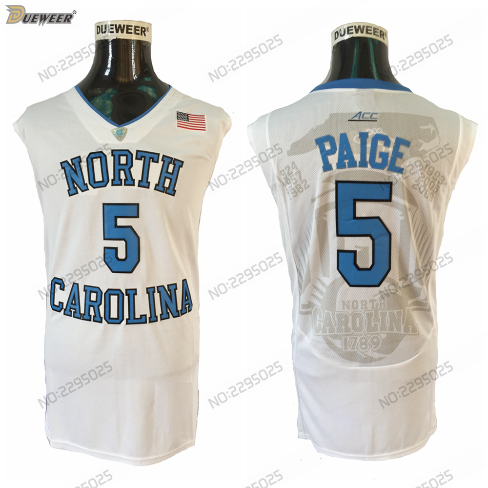 d932f69822f Trikots Basketball Mens #5 Marcus Paige North Carolina Tar Heels College  BASKETBALL JERSEY