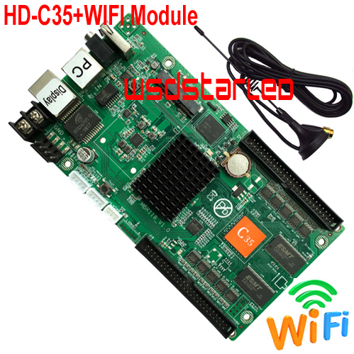 HD C35 WIFI Module 2 50PIN 1024 512 USB asynchronous full color LED screen control card