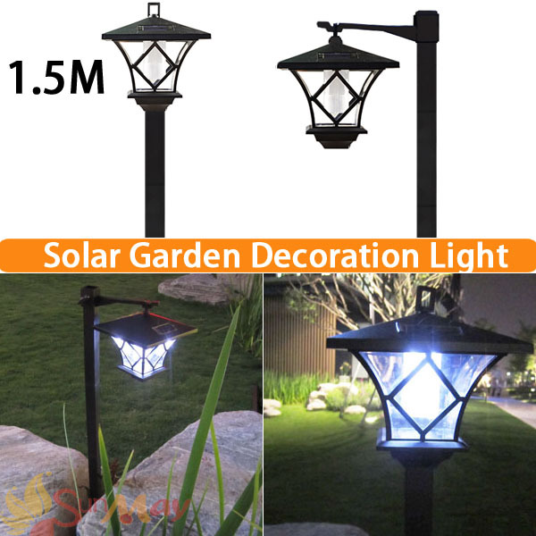 Attractive Height 1.5M LED Solar Lawn Lamp Outdoor Light Landscape Garden Lamp Solar  Powered Light Led