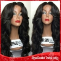 Synthetic Lace Front Wig /none lace hair off black body wave heat resistant fiber cheap cosplay wig for black women Freeshipping