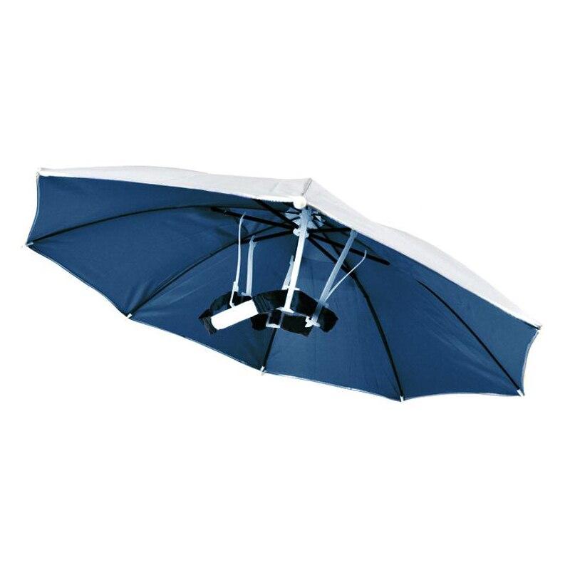 5 PCS JHO-Outdoor Sports Foldable Golf Fishing Hunting Sun Brolly Umbrella Hat Cap