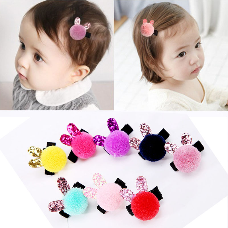 New Arrival 1PC Baby Girls Children Cute Ball Colorful Hairpins Kids Popular Sweet Hair Clips Hair Accessories minnie mouse ears baby girl hair clip children clips accessories kids cute hairclip for girls hairpins hair clips pins menina