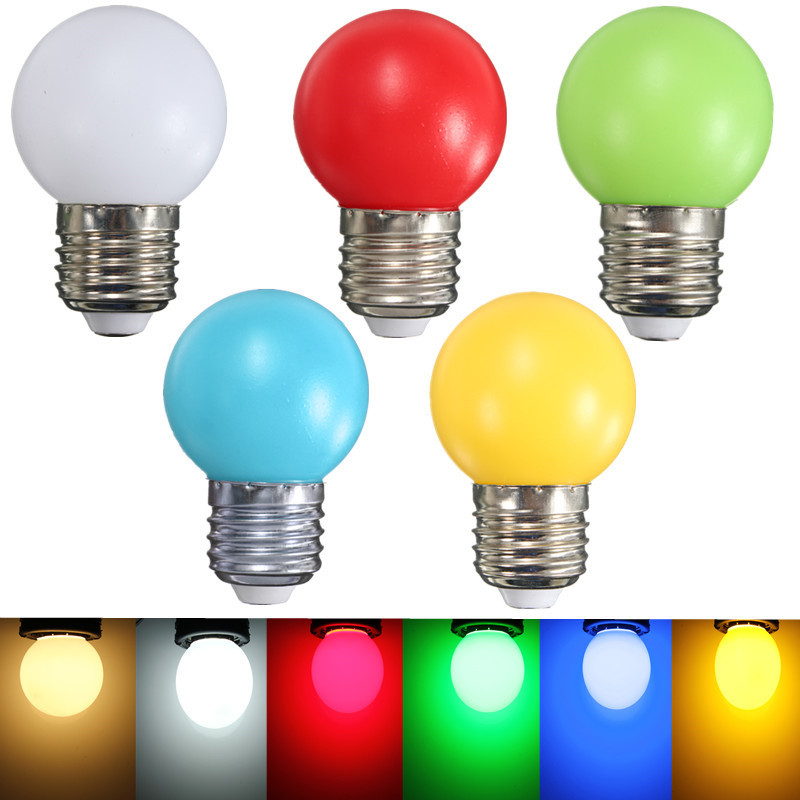 Colorful LED Light Bulb E27 Golf Ball Globe LED Lamp Bulb 1W 2W 3W Plastic Energy Saving Lamp Home Decor Lighting AC 110-240V lightme smart e27 light bulb intelligent colorful led lamp bluetooth 3 0 speaker for home stage energy saving led light bulbs