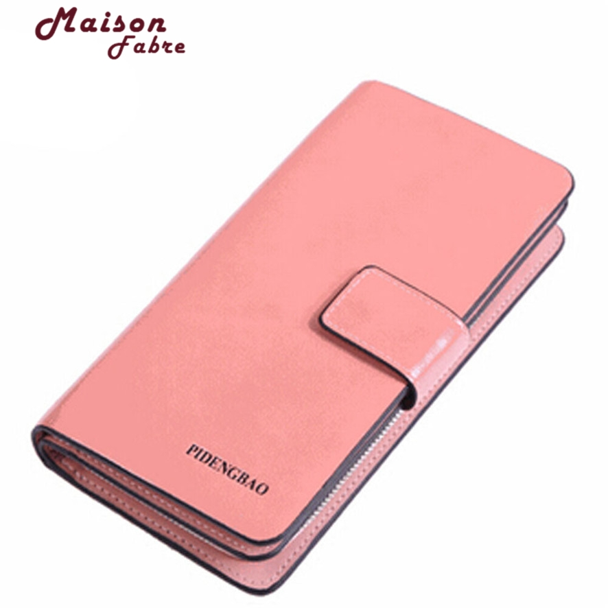 Luxury Brand female Womens Purse Long Fashion Clutch Leather Wallet High Quality Phone Key Card Holder Bag With Strap 10#30
