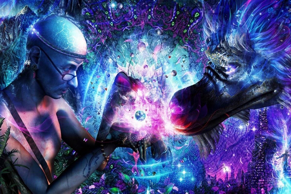 Canvas Poster abstract artwork Sacred Geometry spiritual ...