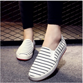 New 2016 Student White Black Beauty Print Platform Women's Flats Alpargata Canvas Espadrilles Women Elevator Loafer Girls Shoe