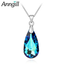 ANNGIL 100% Original Crystals from Swarovski Necklaces&Pendants Vintage Collares Bijoux For Women Best Gift Wedding Jewelry(China)