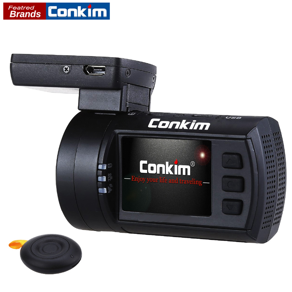 Conkim Car DVR Registrar Novatek 96663 1080P 60FPS Ultra HD Auto Dash Cam Video Recorder GPS Temperature Protect Mini 0906s bigbigroad for nissan qashqai car wifi dvr driving video recorder novatek 96655 car black box g sensor dash cam night vision