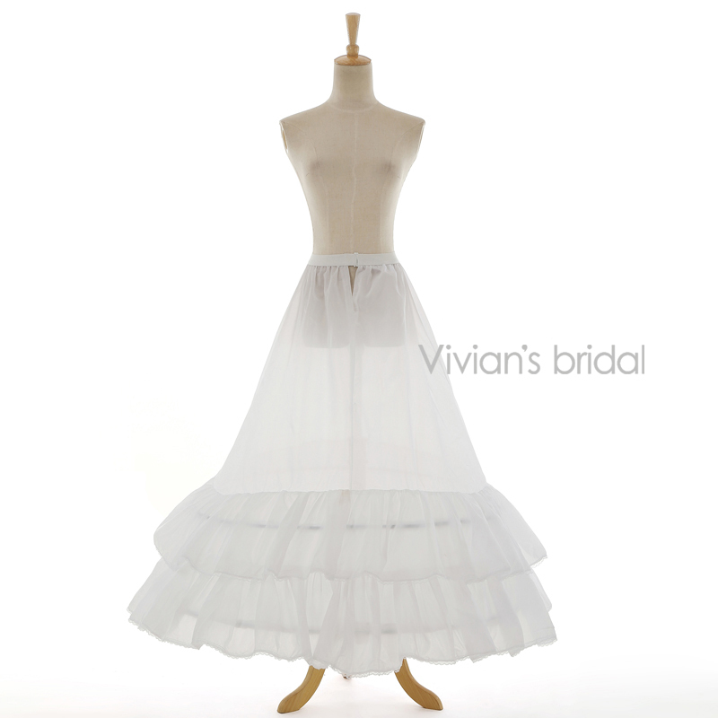 Vivians Bridal 2 Layers Hot Sale Underskirt Bridal Accessories Petticoat A-Line White Free Shipping Good Quality 8803