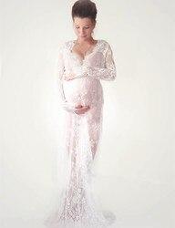 Le Paar mutterschaft fotografie requisiten maxi Mutterschaft kleid Spitze Mutterschaft Kleid Phantasie schießen foto sommer schwangere kleid Plus