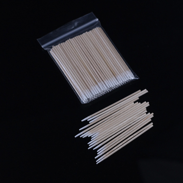100 шт Деревянный ватный тампон Косметика Перманентный макияж медицинские ювелирные изделия для ушей Чистые Палочки с бутоном наконечником деревянные ватные тампоны ватные палочки