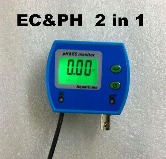 Digital Tester PH Pocket Pen type Water meter 2 in 1 EC Large screen 0.01 with adaptor Multi-parameter monitor mc 7825ps digital water meter price with 2 in 1 multifunctional digital pin