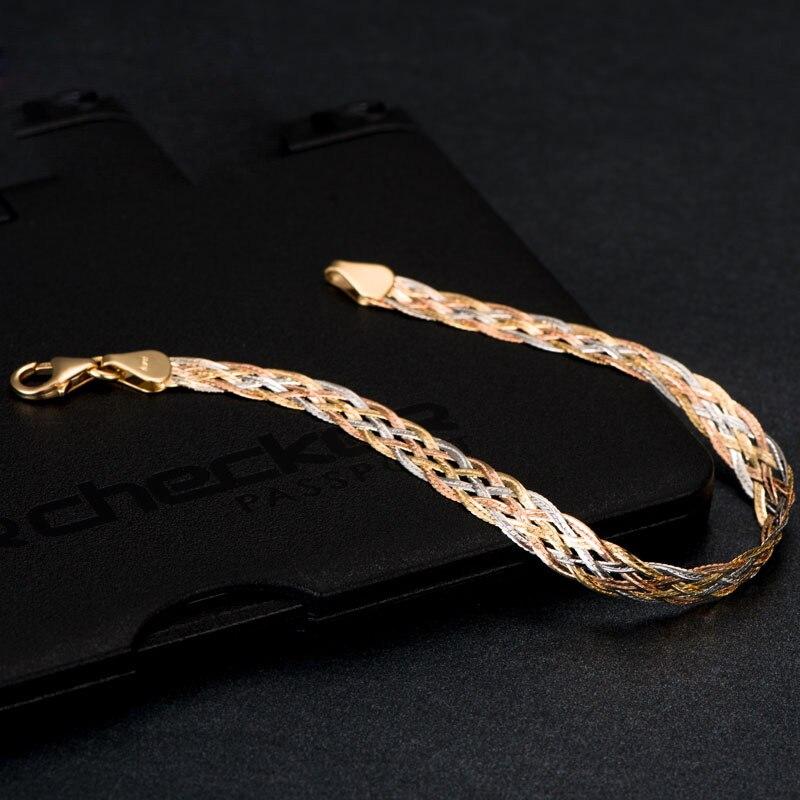 Anthentic 18 k Or Agitant Bracelets Femmes Femelle Bracelet-bijoux Partie unisexe Nouveau 2017 À La Mode Bonne Comme Réel Vente Chaude AU750 bonne