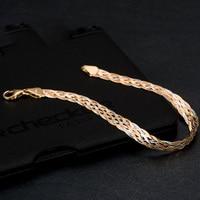 Anthentic 18k Gold Waving Bracelets Women Female Bangle jewelry Party Unisex New 2017 Trendy Good Like Real Hot Sale AU750 good