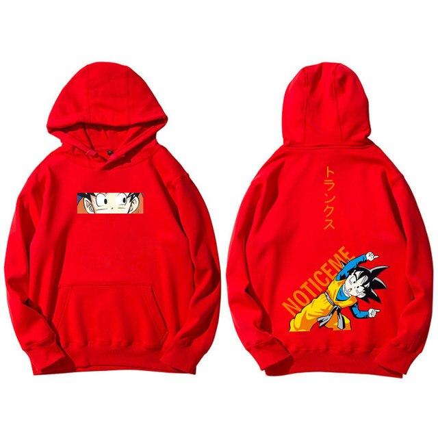Harajuku Japanese Manga Sudadera Dragon Ball Sweatshirts Men Women Lovers Hip Hop Goten Trunks Plus Velvet Loose Couple Hoodies