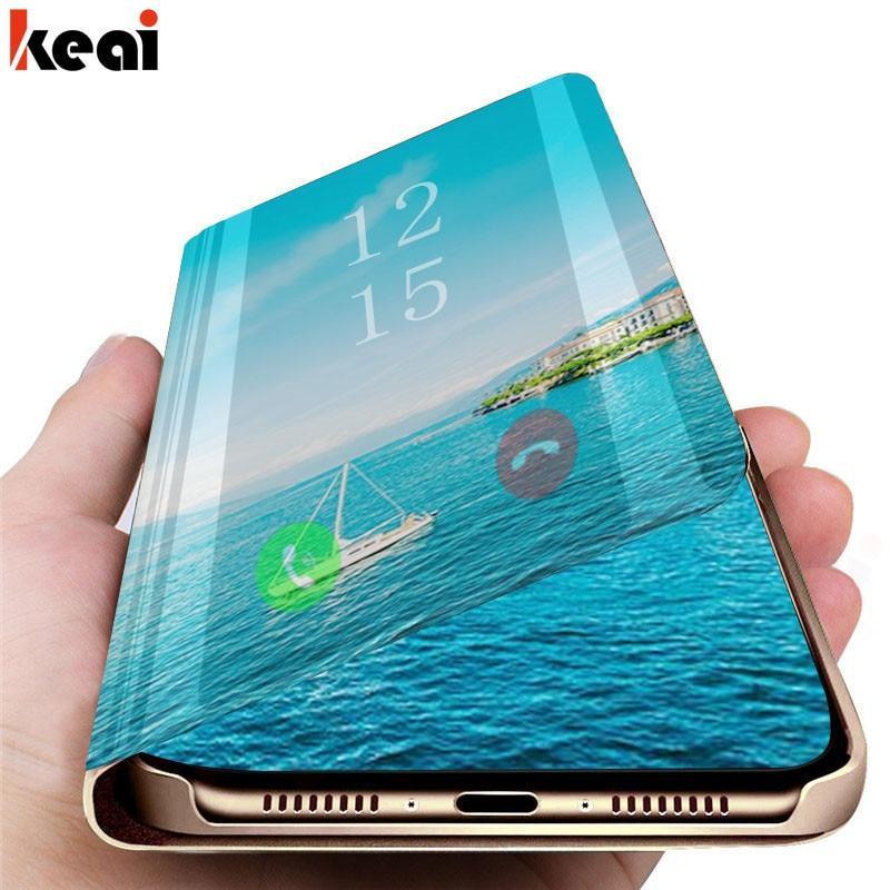 Flip Standing Mirror Case For Samsung Galaxy S8 S9 S10 S7 Edge A7 A6 A8 A9 J8 J4 J6 Plus 2018 A5 A3 2017 A30 A20 A10 M10 M20 Bag
