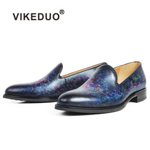 Vikeduo 2019 Handmade Designer Fashion Brand Leisure Party Wedding Male Casual Shoe Genuine Leather Men s