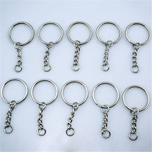 10Pcs Keyring Gifts Silver Tone Keyring Blanks Key Chains Split Rings with  4 Link Chain Keychain Couples Jewelry Key Chain cbab2571c
