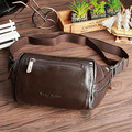 Men Vintage Waist Bag Genuine Leather Cowhide Hip Belt Cell Phone Purse Fanny Pack Single Back Pack Travel Male Sling Chest Bags