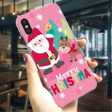 Christmas New Year Hard Cover for iPhone 7 Plus Protective Phone Case for iPhone 8 8 Plus X Xs Xs Max XR 5 Cases Back стоимость