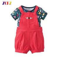 ZOFZ 2Pcs Set Baby Clothing New Fashion Clothing For Babies Cute O Neck Short Girl Set
