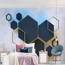 beibehang Mural 3d Custom Wallpaper Geometric Hexagon Mosaic TV Background wall murals wallpaper
