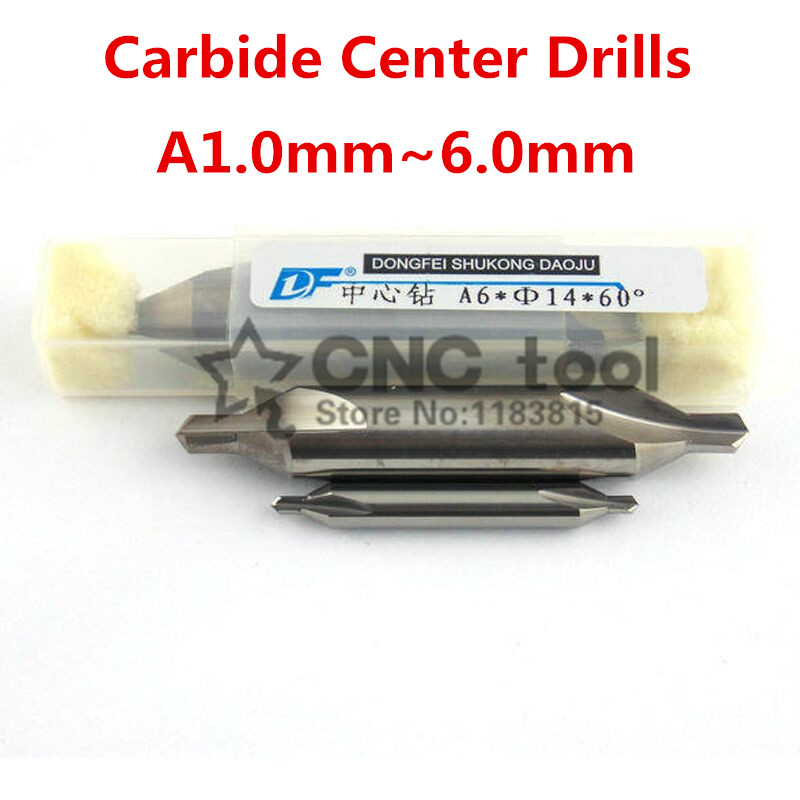 1PCS Carbide Center Drill A-Type 1.0mm~6.0mm 60 Degrees Center Drills Countersinks Bit,locating Center Hole Tool,Cutting Tools