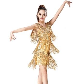6eecb6bd Nuevo vestido de baile latino para mujer vestidos de competición de baile  latino Sexy Salsa/salón de baile/Tango/Cha/Rumba /Samba/vestidos de baile  latino