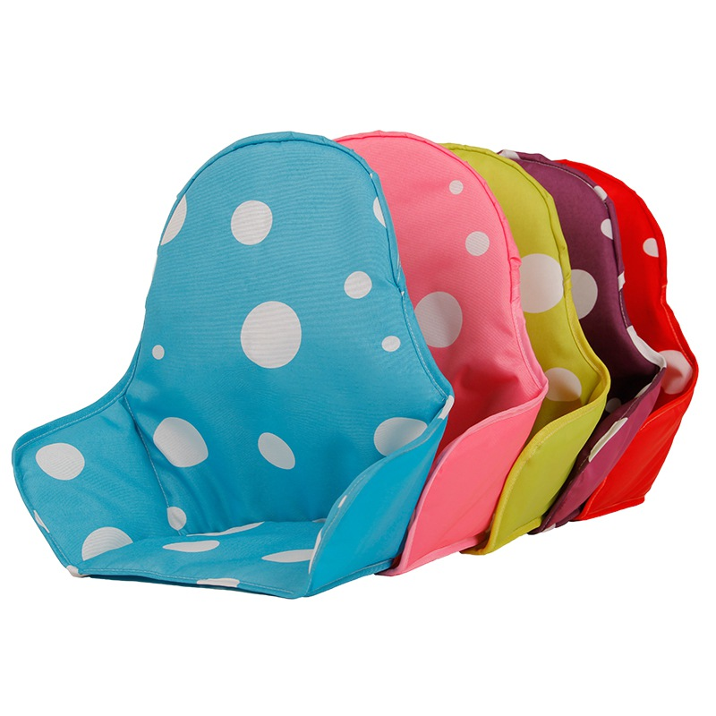 Baby Protector High Chair Oxford Cloth Sponge Seat Cushion Dining Chair Liner Mat Pad Cover Dots Breathable Water Resistant