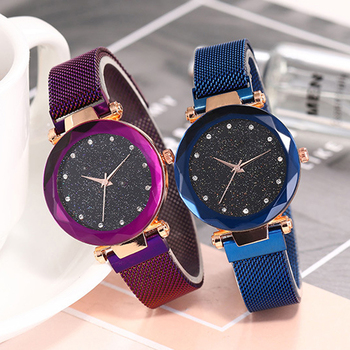 Luxury Women Watches Magnetic Sky Ladies Watch Fashion Ladies Wrist Watches Female Clock Quartz Wristwatch relogio feminino