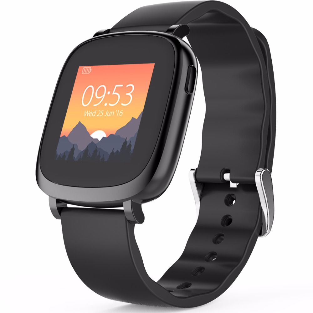 Leegoal Bluetooth Smart watch Dynamic Heart Rate Monitor Full color TFT LCD Screen Smartwatch for IOS